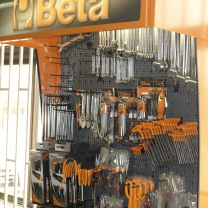 Beta Tools in a display rack