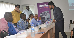 Introduction of Apollo Tyres to truck fleet owners