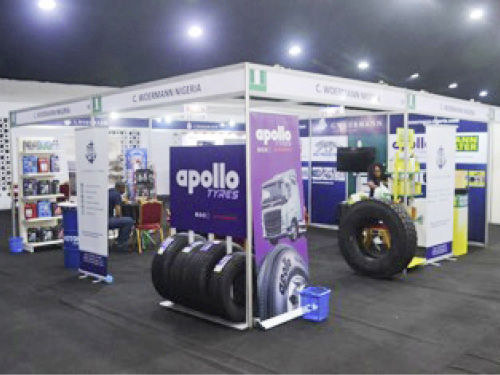 Our booth at Lagos Autoparts Expo