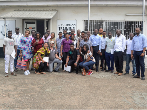 Participants of our Liqui Moly training 2019 at the training centre in Lagos