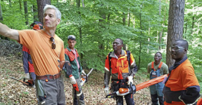 C. WOERMANN Ghana, Nigeria and Angola participate in training at STIHL headquarters in Germany
