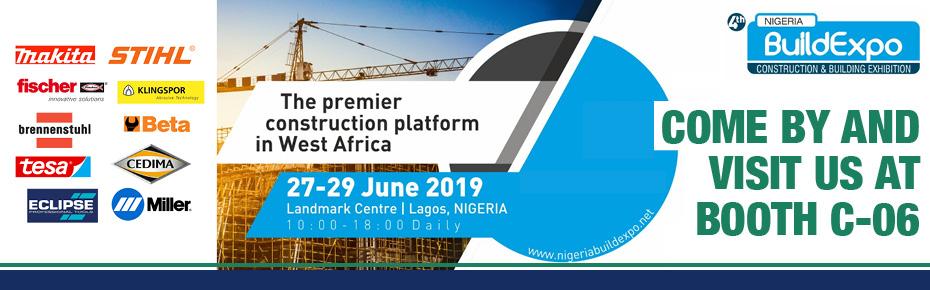 Meet us at Nigeria Build Expo 2019 June 27th-29, Landmark Centre, Lagos