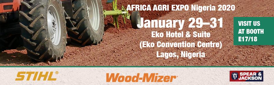 Visit us at Agri Expo, Janury 29th to 31st at Eko Hotel & Suite (Eko Convention Centre) in Lagos, Nigeria