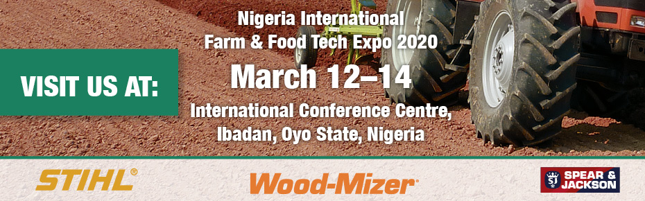 Visit us at Nigeria International Farm & Food Tech Expo, March 12-14, at International Conference Centre, Ibadan, Oyo State, Nigeria.