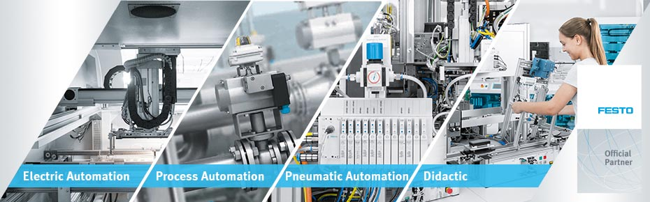 Festo is a worldwide leader in automation and a world market leader in technical training and development. Festo innovations in pneumatic and electric drive technology deliver higher productivity for the success of your business. For industrial and process automation – from single components to turnkey solutions