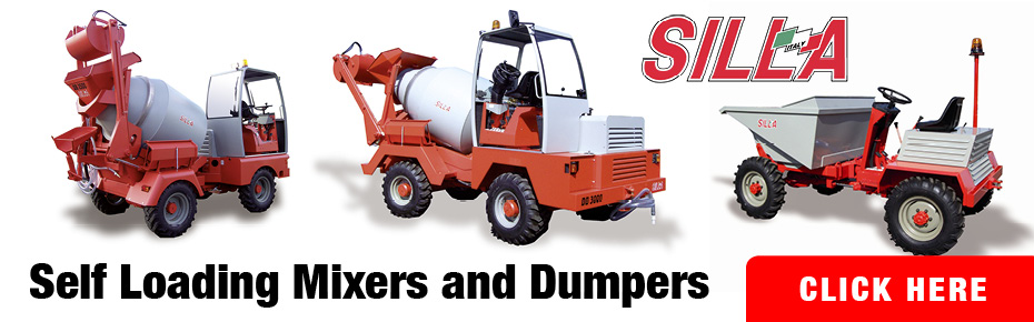 See our range of self loading mixers and dumpers made by Silla