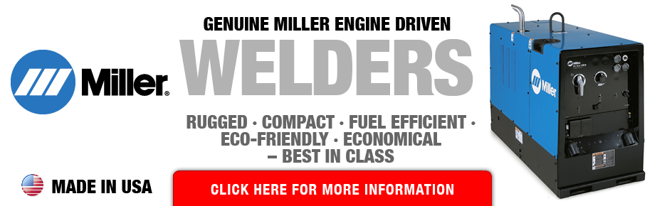 Available now: Genuine Miller Engine Driven Welders